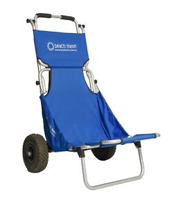 Blue Beachmate Beach carry all the gear Trolley and then a seat FREE POSTAGE