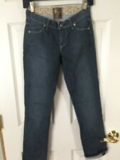 Rich & Skinny Denim Jean COOL BLUE COLOR  WITH STRETCH Size 24 x 29 new