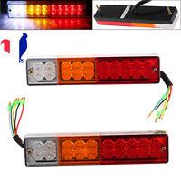 2PCS LED Feux de Freinage arrière clignotant pour Camion Remorque Fourgon