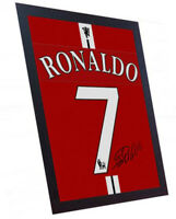 Cristiano Ronaldo Manchester United signed printed on CANVAS 100% Cotton Framed