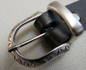 GÜRTELSCHNALLE mit SCHLAUFE für 25mm breite GÜRTEL Metall VERZIERT Elegant NEU #