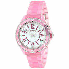 Invicta Women's Watch Anatomic Quartz White Dial Pink Plastic Bracelet 30353