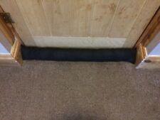 Black Fabric Door Draught Excluder draft snake sausage material