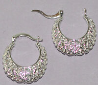 Ohrringe 925  Sterling Silber plattiert Schmuck Creolen Geschenk Ohrringe Neu
