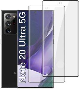 2x Samsung Galaxy Note 20 / Ultra 5G Panzerfolie 9H Hart Schutzglas Full Screen
