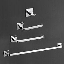 NEW 4PCS Bath Collection Set Brass Chrome Finish Bathroom Hardware & Accessories