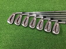 NICE Wilson Golf DEEP RED II TOUR Iron Set 3-9 Right Steel STIFF Original Grips