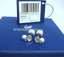Swarovski Extra Crystal Pearl Pierced Earrings, 2 looks in 1 Crystal 5205010