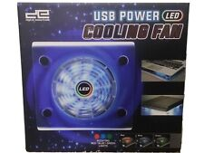 USB Power Fan LED Light Air Cooling Pad Cooler Stand For PC,GAME CONSOLES etc...