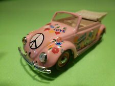 VITESSE VW VOLKSWAGEN KÄFER CONVERTIBLE - FLOWER POWER PEACE- PINK 1:43? - GOOD
