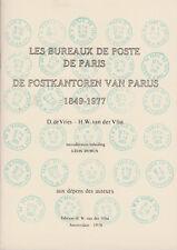 Les Bureaux de Poste de Paris 1849-1977 par de Vries et van der Vlist, 1978
