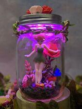 Handmade TinkerBell Fairy Jar Lantern Miniature Fairies Decorative Ornament