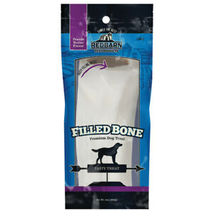 Redbarn Pet Products Filled Bone Peanut Butter Dog Treat 10 in, Large  Free Ship