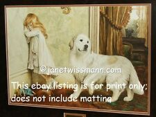 * Great Pyrenees Fine Art Painting Print Working Dog Sheep Pyrenean Mountain s/n