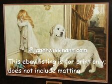 Qty. 2 - Fine Art Painting Prints, Signed, Great Pyrenees Pyrenean Mountain Dog