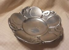 Cute Metal Silver/Pewter Color Bunny Bowl/Candle Holder
