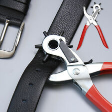 Hole Making Revolving Red Punch Pliers For Leather Belts Eyelet Tool 6 Sizes