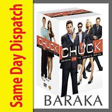 CHUCK: COMPLETE SERIES SEASONS 1 2 3 4 5 DVD BOX SET 23 DISCS 1 - 5 NEW