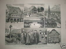 In and Around the Black Forest Germany 1882 engravings