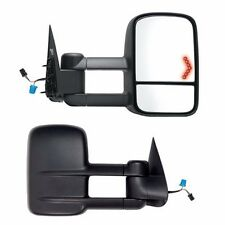 Towing Mirrors Set LED Signal Pair Tow Power Heated For 2003-06 Silverado Pickup