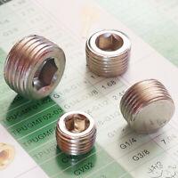 1pcs  Bsp Male Stop Drain Plug Taper Adapter Thread Internal Hex Head