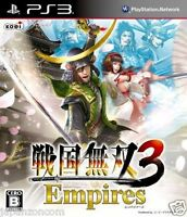 Used PS3 Sengoku Musou 3 SONY PLAYSTATION 3 JAPAN JAPANESE JAPONAIS IMPORT