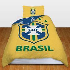 Brasil Design FC Football Panel Official Single Bed Duvet Quilt Cover Set