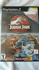 Jurassic Park: Operation Genesis (PS2, 2003) Cover Art and Manual Only, No Game