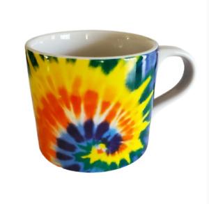 Tie Dye Coffee Mug Cup Peace Ceramic Hippie Muticolor