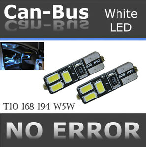 2 pair T10 Samsung 6 LED Chips Canbus White Fit Front Parking Light Lamps H755