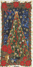 Glamorous Holiday Christmas Tree 100% Cotton Quilting Fabric Panel Timeless