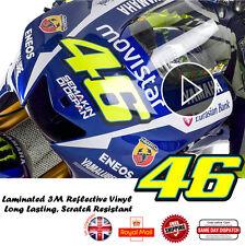 Valentino Rossi 46 Version stratifié 3M Réflective Décalques Autocollant 148mm