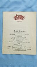 1929 Colorado Springs Colo. Acacia Hotel Thanksgiving Luncheon Menu-Oyster Soup