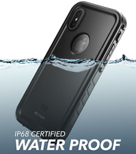 For iPhone Xs Max Fully Waterproof Case Clayco Built-in Screen Protection Cover