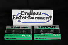 Lot of 2 Brand New Sealed HD-90 Realistic Supertapes Blank Audio Cassette Tapes