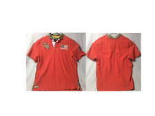 Ralph Lauren Polo Mountain Expedition Rugby Custom Fit Shirt XL Red Vintage