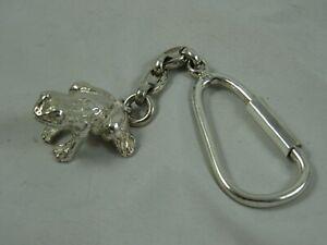 LOVELY, sterling silver `FROG` designed KEY CHAIN , 1996, 28gm