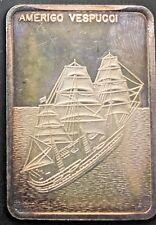 Colonial Mint  Amerigo Vespucci Italy   Sailing Ship Silver Art Bar