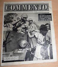 SETTIMANALE ILLUSTRATO PER TUTTI   COMMENTO  N°  33 1947  ORIGINALE !!!