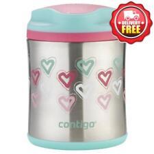 Contigo Kids Thermo Insulated Food Jar Flask 300ml %7c Hearts %7c Non-Skid Base