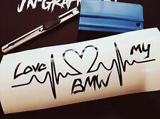 Aufkleber Puls Herz Love my BMW Auto CAR Style Sticker Tuning Racing JDM E36 E46