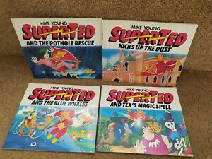 4 x SUPERTED BOOKS BLUE WHALE TEX'S MAGIC SPELL POTHOLE RESCUE KICKS UP THE DUST