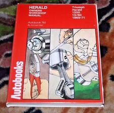 TRIUMPH HERALD 1200 13/60 1969-71 Owner's Workshop Manual Autobooks Ken Ball