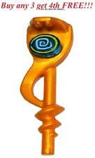 ☀️ Lego Weapon Pearl Gold Serpent Snake Staff Round Blue Tile Hypnobrai Ninjago