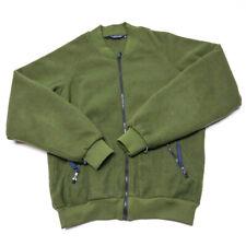 Columbia Men's Large Military Green Sleeve Full-Zip  Fleece Jacket Coat