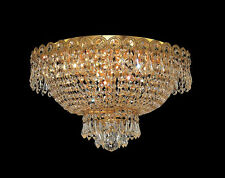 Palace Empire 4 light Crystal Chandelier Flush Mount Ceiling Light Gold 16x10