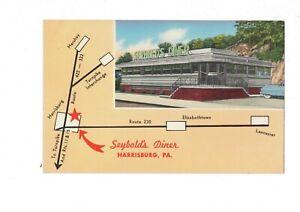 PA Harrisburg Pennsylvania Seybold's Diner Exterior Advertising Chrome Postcard