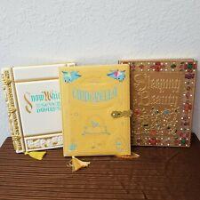New Disney Classic Princess StoryBook Journal Set Cinderella Snow White Sleeping
