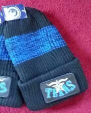 Sportsman Silhouette TEXAS 12 Inch Black& Blue Knit Acrylic Beanie Stocking Cap.
