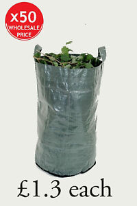 50 x Large Heavy Duty Garden Waste Bag Refuse Sack (150 litres) wholesale price